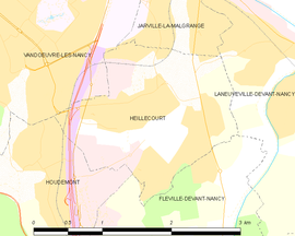 Mapa obce Heillecourt