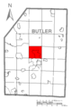 Map of Center Township, Butler County, Pennsylvania Highlighted.png