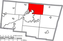 Location of Moorefield Township in Clark County
