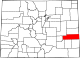 Map of Colorado highlighting Kiowa County.svg