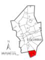 Map of Conyngham Township, Columbia County, Pennsylvania Highlighted.png