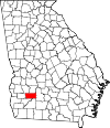 Map of Georgia highlighting Dougherty County.svg