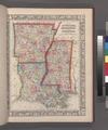 Map of Louisiana, Mississippi, and Arkansas. NYPL1510811.tiff