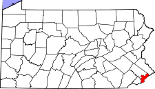 Map of Pennsylvania highlighting Philadelphia County.svg