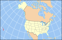 Map of the U.S. highlighting Havaji