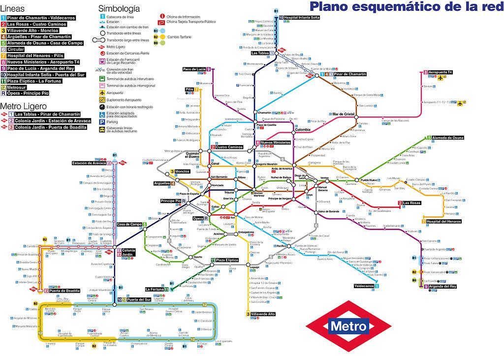 Mapa De Tren Madrid.File Mapa Esquematico Del La Red De Metro De Madrid Jpg