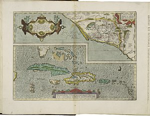 300px maps of culiac%c3%a1n and of hispaniola and cuba by abraham ortelius