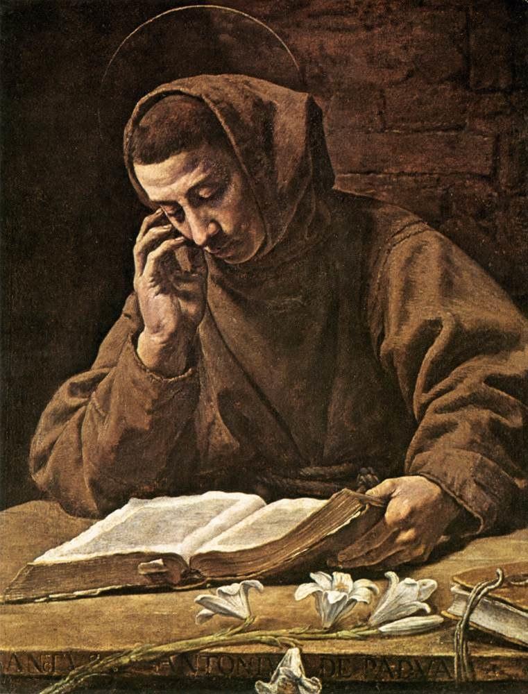 Marcantonio Bassetti - St Antony Reading - WGA01483