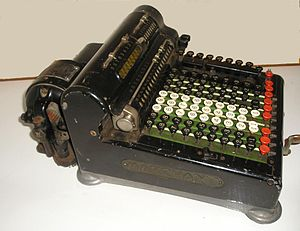 Marchant calculator - 1920s EB-9 Marchant calculator