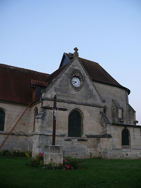 Saint-Vaast's church of Marest-sur-Matz (Oise, Picardie, France).