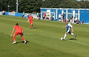 Margate F.C. - Margate (blue shirts) in action in 2007