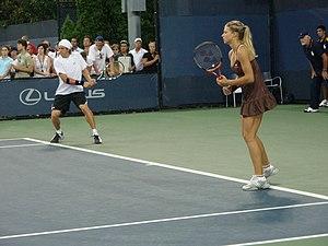 Maria Kirilenko - Kirilenko with her mixed doubles partner and then boyfriend, Igor Andreev, at the US Open