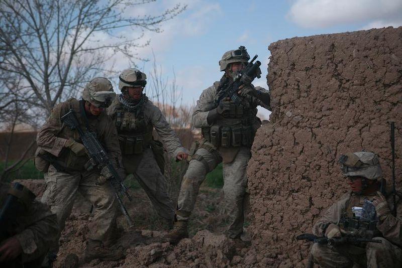 Marines securing the city of Marjeh Feb 22 2010.jpg