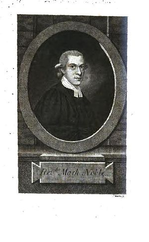 Mark Noble (biographer) - Mark Noble, 1784 engraving by Robert Hancock.