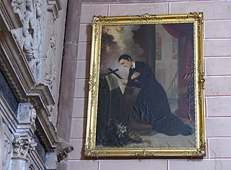 Aloysius Gonzaga - Painting of Aloysius Gonzaga in Marmoutier Abbey, Alsace, France