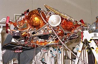 Mars Polar Lander - Image: Mars Polar Lander close up