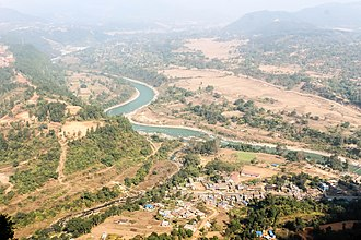 Marshyangdi - Aerial View of Marsyangdi River
