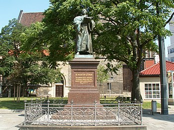 Luther monument in Erfurt