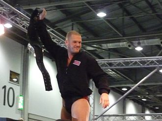 Danny Burch - Stone with the FWA Heavyweight Championship in May 2010