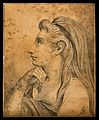 Mary, sister of Martha (from the New Testament). Drawing, c. Wellcome V0009164ER.jpg