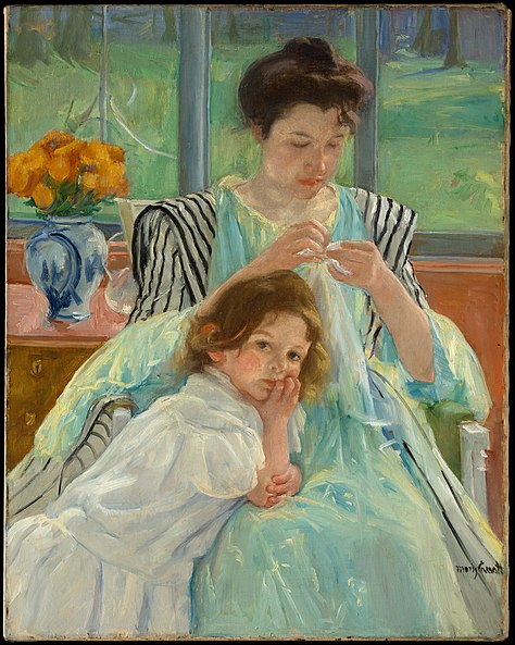 File:Mary Cassatt Young Mother Sewing.jpg