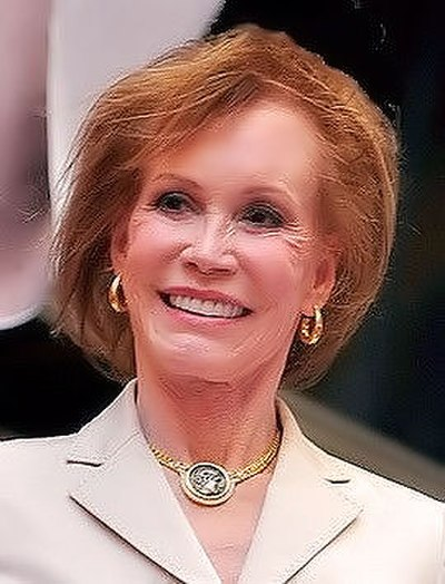 Mary Tyler Moore, American actress and television producer