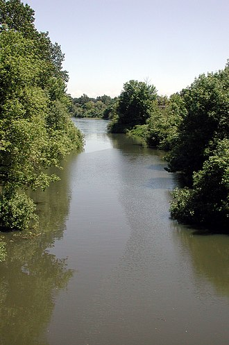 Marys River (Oregon) - Marys River near mouth in Corvallis
