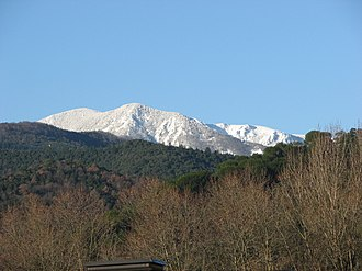 Montseny Massif - The massive Matagalls seen from Arbúcies.