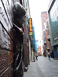 Mathew Street from Lennon statue's viewpoint, 2012.jpg