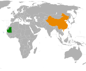 China–Mauritania relations - Image: Mauritania China Locator