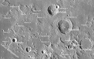 Antonia Maury - Maury lunar crater