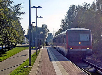 Strasbourg–Wörth railway - Haltepunkt Maximiliansau Im Rüsten