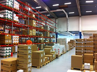 Goods - Tangible goods stacked in a warehouse
