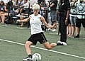 Megan Rapinoe warming up before a MagicJack match..jpg
