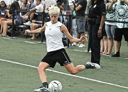 Rapinoe warming up before a MagicJack match, 2011 Megan Rapinoe warming up before a MagicJack match..jpg