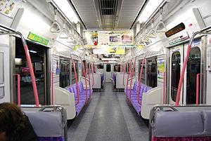 Meitetsu 3150 series - Image: Meitetsu 3150 interior