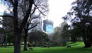 Treasury Gardens - Treasury Gardens during winter