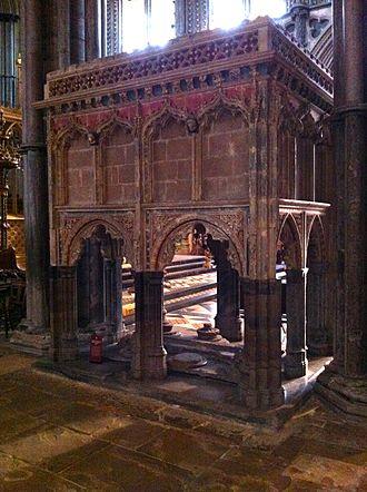 John Hotham (bishop) - Memorial to Bishop Hotham in Ely Cathedral