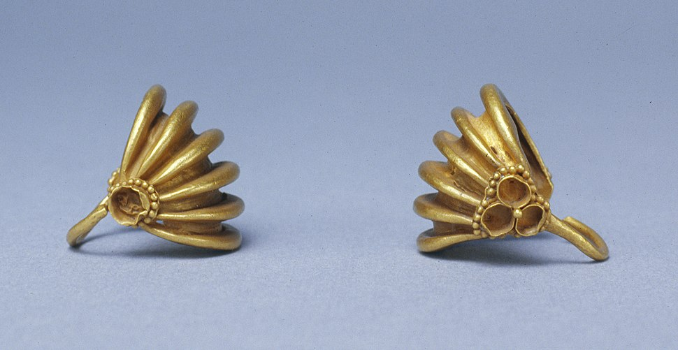Mesopotamian - Pair of Basket-Shaped Hair Ornaments - Walters 572064, 572065