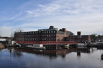 Spicket Falls Historic District - The mill pond on the Spicket River