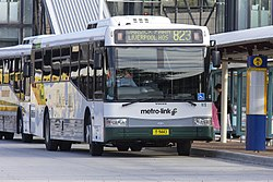 Metro-link Bus Lines (mo 9443) Bustech 'VST' bodied Volvo B12BLE at Liverpool Interchange.jpg