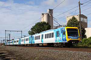 Metro Trains Melbourne - Image: Metro liveried X Trapolis train 863M