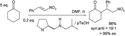 Michael reaction asymmetric