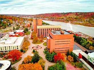 Michigan Technological University - The main Michigan Tech campus is located in Houghton, Michigan—north of Highway US 41 and south of the Portage Canal.
