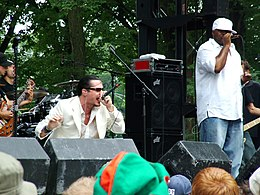 Mike Patton and Rahzel performing at Lollapalooza.
