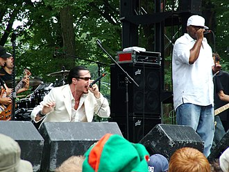 Peeping Tom (band) - Mike Patton and Rahzel performing at Lollapalooza.