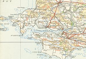 Milford Haven Waterway - A map of Milford Haven Waterway from 1946