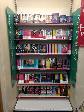 Mills & Boon - Image: Mills & Boon books, W.H. Smith, Enfield