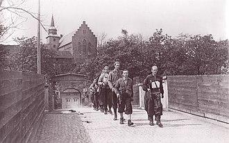 Milorg - Members of Milorg at Akershus Fortress on 11 May 1945