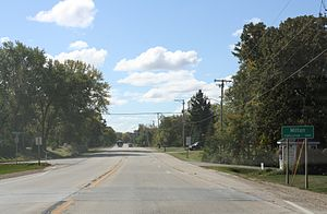Milton, Wisconsin - Sign on WIS 26
